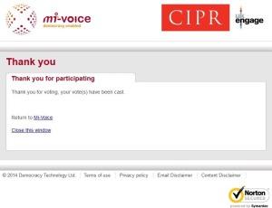 CIPR Council Vote