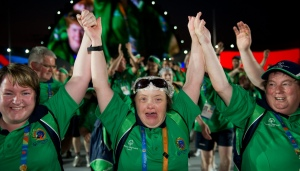 Team Ireland athletes at the Special Olympics World Summer Games in Athens, 2011.