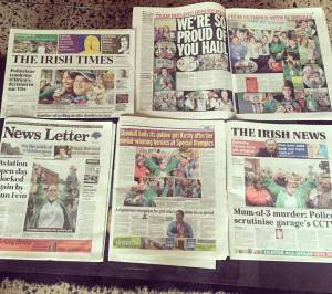 A selection of the coverage and countless front pages following Team Ireland's homecoming