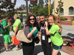 Me and fellow Team Ireland media volunteer Suzanne Hamilton from Bangor with NI boxing legend, Wayne McCullough.